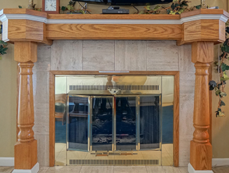 The Asti has an elegant fireplace, offering extra luxury.